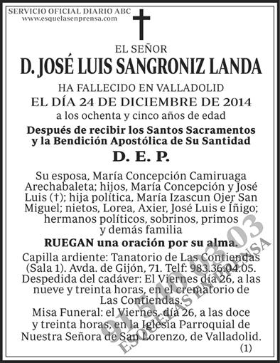 José Luis Sangroniz Landa